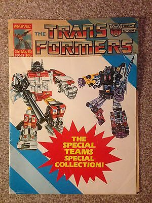 Transformers #63 31St May 1986 - Marvel Uk Weekly Comic