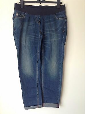 Next Maternity Women`s Ladies Relaxed Skinny Jeans Dark Blue Size 12,20