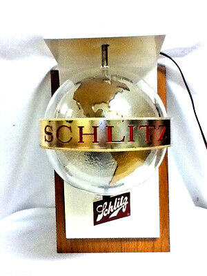 Schlitz beer sign globe 1968 motion spinning lighted wall sconce globe light gx8