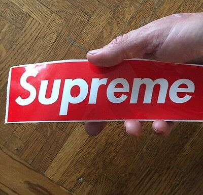 Supreme Box Logo Glossy Sticker Large Oil/waterproof