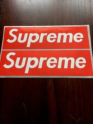 2x Supreme NY Decal/Stickers LARGE (19cmx6cm) Oil/Waterproof