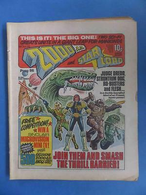 2000Ad 86 1978 1St Starlord Merger! No Newsagent Marks!