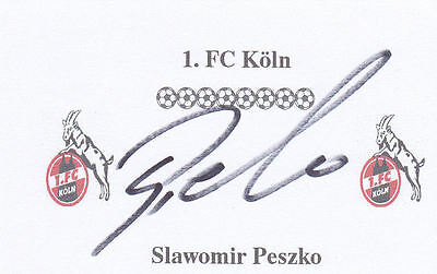 Slawomir Peszko (Wolves, Cologne & Poland) signed card