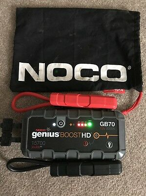 NOCO Genius Boost HD GB70 2000 Amp 12V UltraSafe Lithium Jump Starter used