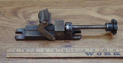"""Old Used Tools,Unsigned Machinist Vise,1-3/8"""" Jaws,2-1/4"""" Capacity,W/Swivel Jaws"""