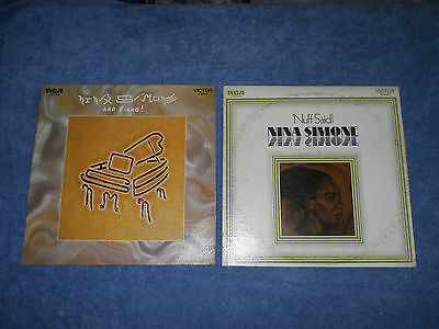 Lot of 2 Nina Simone Vinyl Records Nuff Said And Piano! lp