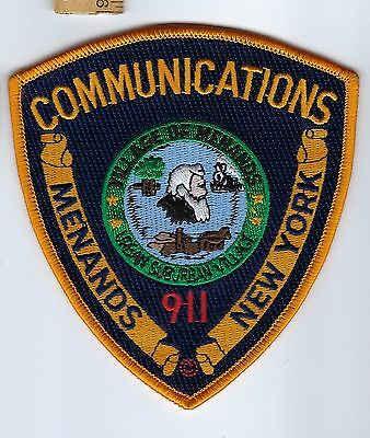 Menands (Albany County) NY New York 9-1-1 911 Communications patch - NEW!