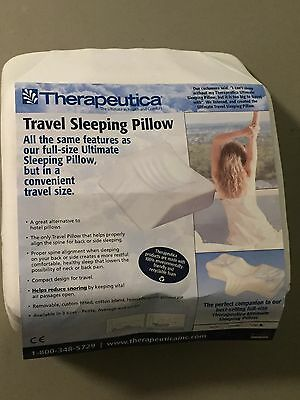 """Therapeutica TRAVEL Side/ Back Sleeping Pillow Average 5 1/4' - 6 1/4"""" FREE SHIP"""