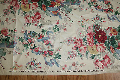 Pierre Frey Le Manache Marie Amelie Rose Yellow Cotton French Fabric Remnant