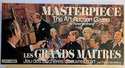 Masterpiece Board Game Art Auction Parker Brothers 1970s Vintage