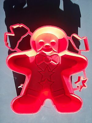 Gingerbread Man Jello Mold Shape Cookie Cutter Star Bow Boot Holiday Christmas