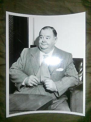 Oliver Hardy from Laurel and Hardy vintage original 8x10 photograph candid