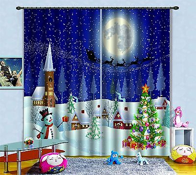 3D Moon deer 33 Blockout Photo Curtain Printing Curtains Drapes Fabric Window US