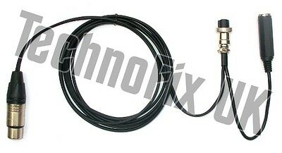 Cable for Heil microphones 4 pin XLR to 8 pin round for Yaesu, CC-1-Y8 equiv.