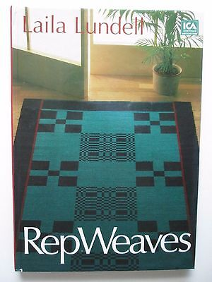 REPWEAVES REP WEAVES Laila Lundell HC Weaving Pattern Book 1987 Sweden