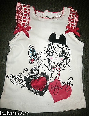 Newborn 0000 Girls Baby Baby White Red Ribbon Puff Heart Black Lace Bow Tank Top