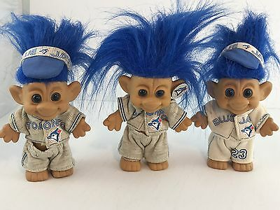 TORONTO BLUE JAYS 1992 WORLD SERIES SOUVENIR FOREST TROLL Lot of 3 Dolls MLB