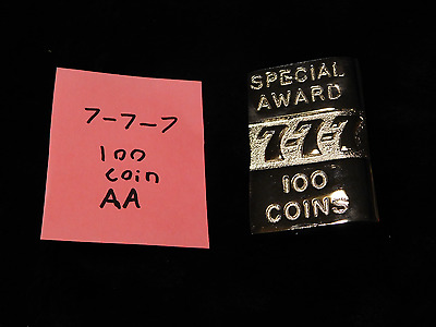 Mills Repro 777 Special 100 Award Hi Top Plate For A Mills Antq Slot Machine #aa