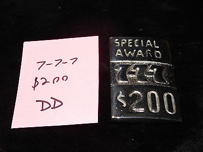 Mills Repro 777 Special $200 Award Hi Top Plate For Mills Antq Slot Machine #dd