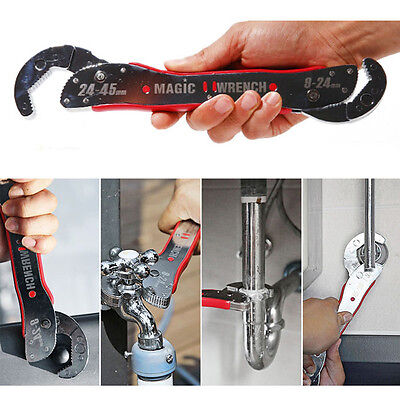 Home ^Multi Purpose Functional Spanner Tools^ Magic Adjustable Wrench 9-45mm Set