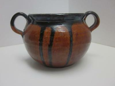 A. R. Cole Pottery, Black Drip Over Red-Maroon-Brown Glaze, Sanford, NC