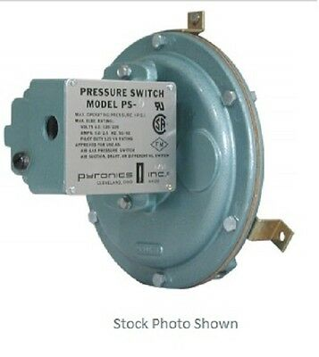 "Pyronics / Selas Air or Fuel Gas Pressure Switch PS-OC .2""-2"" WC"