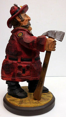 """David Frykman Firefighter Figurine """"firefighter With Axe"""" Chief #df3901"""