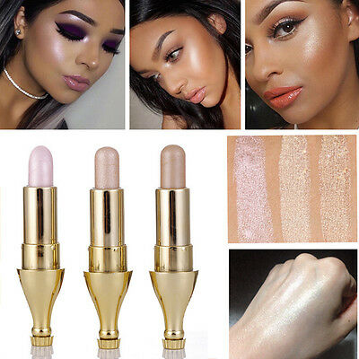 Fashion 3 Colors Women Highlighter Stick Shimmer Powder Cream Makeup Cosmetics