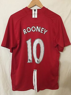 Manchester United England #10 Rooney 2007/2008 Home Football Shirt Jersey