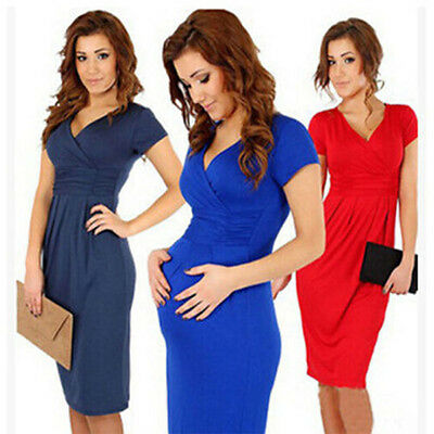 Popular Pregnant Women Maternity Short Sleeve Casual Dress Cotton Summer Clothes