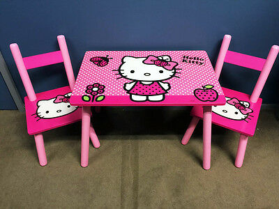 Disney Kids Toddler Wood Table and 2 Chairs Set Activity Table Set 5 design 2-6y