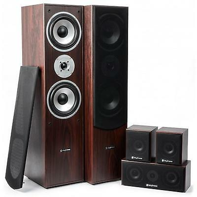 Equipo Home Cinema 5.0 Altavoces Central Frontal Trasero rematado Madera Nogal