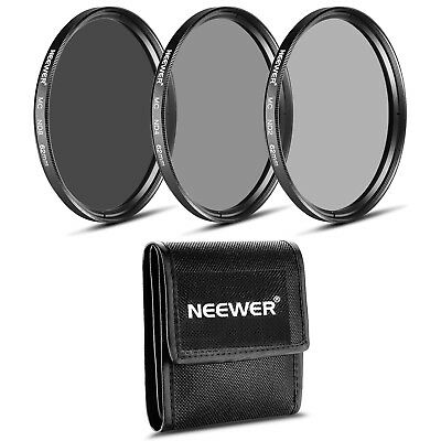 Neewer  62Mm Nd Kit De Lente (Nd2 + Nd4 + Nd8) + Pa?o De Limpieza