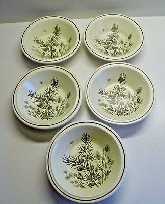 "W H Grindley Pinewood 6 "" Soup/Desert/Cereal Bowl x 5"