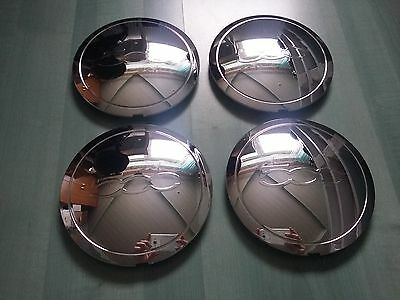 4 x New GENUINE Fiat 500 RIVA Special Edition Alloy Wheel Centre Caps Chrome