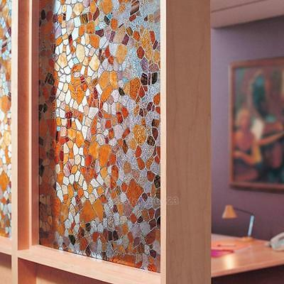 3D Static Cling Stained Glass Privacy Paper Frosted Decorative Home Window Film