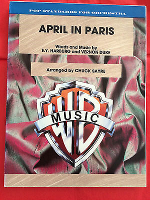 April In Paris, arr. Chuck Sayre, Full Orchestra