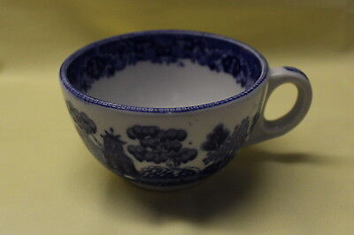 Antique 1922 Buffalo China Cup, Blue Willow Restaurant Ware