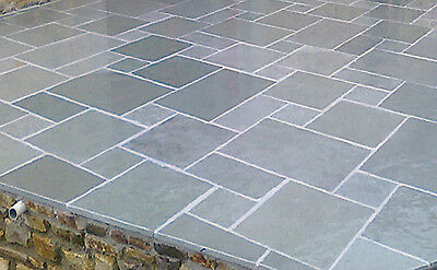 Blue Grey Sawn Kota Smooth Indian sand lime stone 20.70m2 22mm Paving Patio Pack