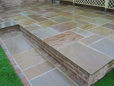 Indian Sandstone 20.7m2 Raj Green Paving Natural Slabs Patio Pack