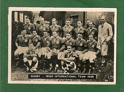 IRISH RUGBY FOOTBALL UNION 1936 TEAM named of reverse original photo