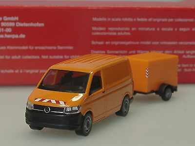 herpa 093071 vw t6 transporter mit planen anh nger orange h0 1 87 neu eur 22 95 picclick de. Black Bedroom Furniture Sets. Home Design Ideas