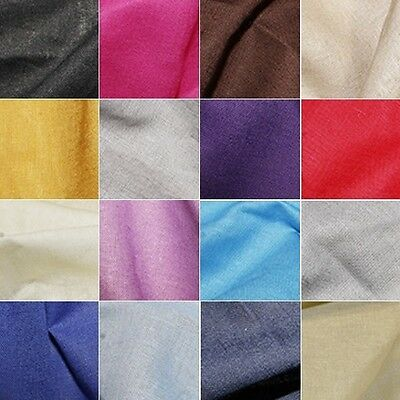 Ramie Cotton Plain Coloured Dyed Fabric 70% Cotton 30% Ramie