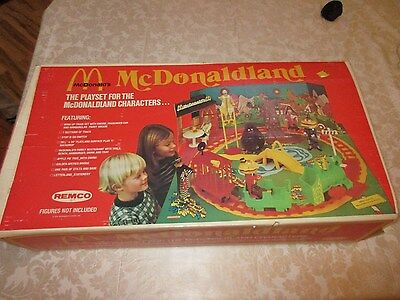 Vintage Remco McDonaldland Playset McDonalds Toy in Box Complete GREAT EXCELLENT