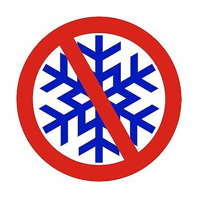 No Snowflakes Bumper Sticker - Red White and Blue