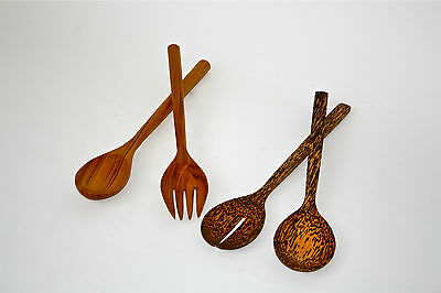 Coconut wood  or Teak salad servers