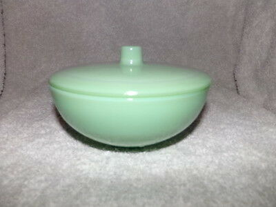 Jadeite Jade Green Glass Covered Candy Dish Bowl