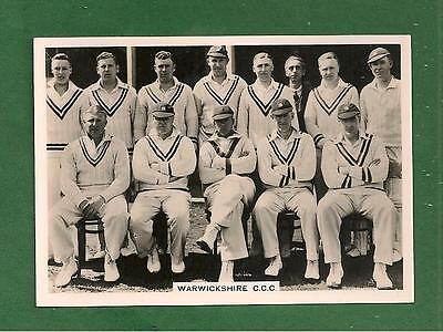 WARWICKSHIRE COUNTY CRICKET CLUB 1936 Team Photo FULL TEAM NAMED on reverse