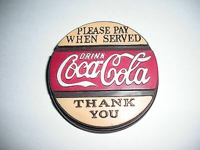 1996 Please Pay When Served Drink Coca-Cola Thank You Bottle Cap Fridge Magnet