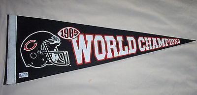 NFL : Chicago Bears 1985 Super Bowl Champions Large Pennant - New RARE